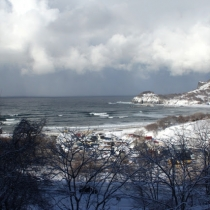 otaru winter beach